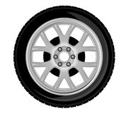 Wheel and tire vector illustration