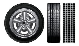 Wheel - Tire and Alloy Rim Royalty Free Stock Photography