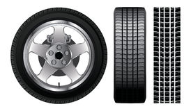 Wheel - Tire and Aluminum Rim Stock Images
