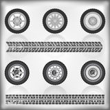 Wheel and tire collection Stock Images