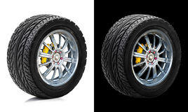 Wheel and tire with disc brake Stock Photography