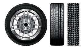 Wheel - Tire and Rim With Brakes Stock Image