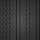 Wheel tire seamless pattern. Vector realistic illustration Stock Images
