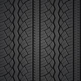 Wheel tire seamless pattern. Vector realistic illustration Royalty Free Illustration