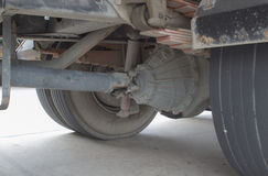 Wheel and tire of truck and trailers Stock Image