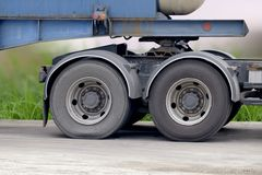 Wheel and tire of truck. And trailers Royalty Free Stock Photos