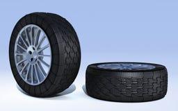 Wheel_trace Immagini Stock