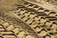 Wheel track. On gravel soils Royalty Free Stock Photos