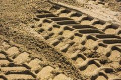 Wheel track. On gravel soils royalty free stock photos
