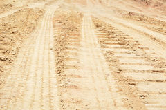 Wheel track Royalty Free Stock Photos