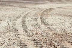 Wheel tracks detail Royalty Free Stock Image