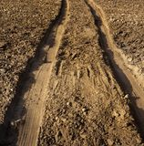 Wheel tracks Stock Photo