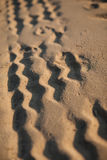 Wheel tracks on the sand Royalty Free Stock Photography