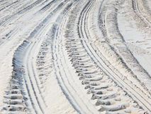 Wheel tracks in the sand Royalty Free Stock Images
