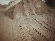 Wheel tracks Stock Photo