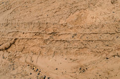 Wheel tracks. Royalty Free Stock Photo