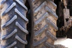 Wheel tractor  . dirty wheels Stock Photo