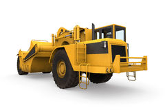 Wheel Tractor Scraper Stock Image