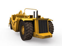Wheel Tractor Scraper Stock Photo