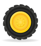 Wheel for tractor vector illustration Stock Images