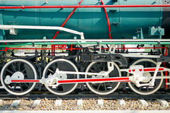 Wheel of train Stock Photos