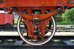 Wheel of Train on Railway Royalty Free Stock Photos