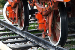 Wheel of Train on Railway Stock Images