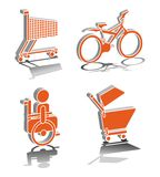 Wheel Transportation. 3D icon illustration vector Stock Images