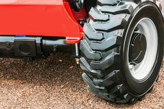 Wheel tread of the tractor or excavator Royalty Free Stock Photography
