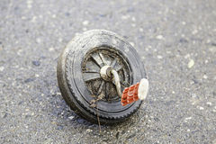 Wheel tricycle abandoned royalty free stock photography