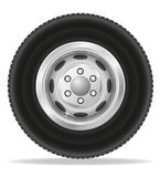 Wheel for truck tracktor and van vector illustration Stock Photos
