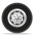 Wheel for truck tracktor and van vector illustration Stock Photos