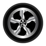 Wheel And Tyre Royalty Free Stock Image