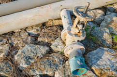 Wheel valve with pipe Royalty Free Stock Images