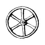 Wheel or Valve, vector sketch illustration Royalty Free Stock Images
