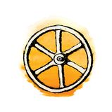 Wheel or Valve, vector sketch illustration Stock Image