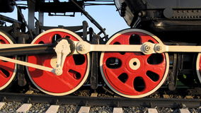Wheel of  vapour train Stock Photography