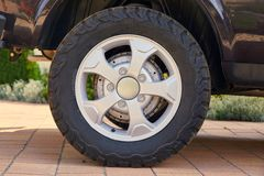 Wheel of a 4x4 vehicle Royalty Free Stock Image