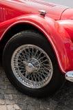 Wheel of vintage car Royalty Free Stock Image