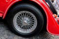 Wheel of vintage car Stock Images