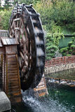 Wheel of the water mill in Hong Kong Park.  Royalty Free Stock Image
