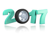 Wheel 2017 with a white background Stock Photo