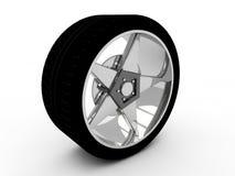 Wheel  on white Royalty Free Stock Photography