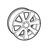 Wheel on white Stock Image