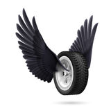 Wheel with wings Stock Photos