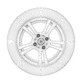 Wheel wire model Royalty Free Stock Images