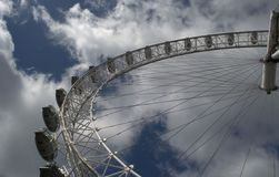 Wheel of Wonder. The beautiful and majestic London Eye in a great perspective royalty free stock images