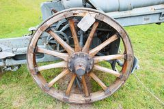 Wheel of a world war cannon Royalty Free Stock Photo