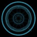 Wheel x-ray Stock Photography