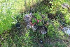 Wheelbarrel-Pflanzer 4 lizenzfreie stockfotografie